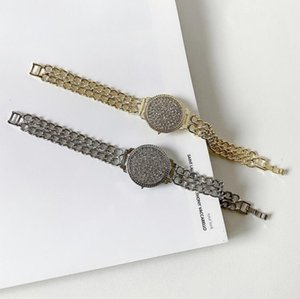 2020 Explosion Styles Launched Hip Hop Diamond Street Matching Disc Bracelet Watch Shape Chain Double Chain Bracelet Free Shipping