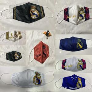 Squadra di pallacanestro di calcio di cotone Fans maschere Real Madrid Panno Maschera Club Maschera traspirante Sport riutilizzabile lavabile faccia esterna mASCHERA