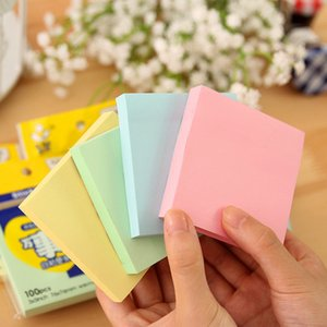 DHL 76*76mm sticky note paper pure color cute sticky note square all things sticky paper message self-adhesive convenient sticker office