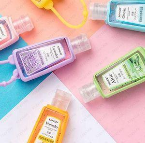 Silikon-Seifenflaschen Shampoo Travel Pump Mini Hand Sanitizer Flaschen Tragbare Flasche Niedliche Cartoon Hand Sanitizer Flasche Freies Verschiffen