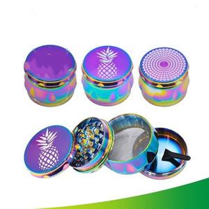 Grinder Dia53mm Metall Dry Herb Grinders Tabak Crusher Rauchermühlen 4 Schichten Grinders Smoking Pipe Zubehör WY852