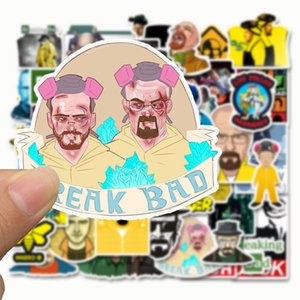 50 Breaking Bad Stickers, Cool Personality, Luggage, Trolley, Refrigerator, Laptop, Guitar, Graffiti, Waterproof Stickers, Hot Sale
