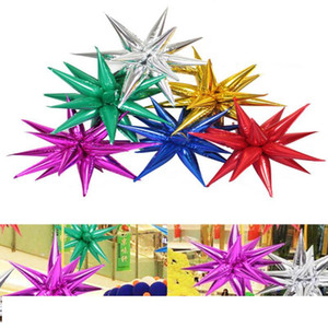 50*13cm pc Explosion star balloons Birthday party opening ceremony Wedding decoration Water drop cone Foil balloons Party Supplies