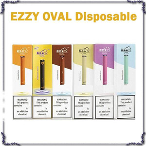 Ezzy Oval Device Pod Disposable Vape Pen E Cigarettes Starter Kits With Security Code 1.3ml Carts 280mAh Battery Empty Pods Hot Selling
