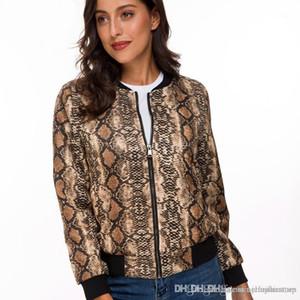 Отпечатано куртки вскользь женщин Тонкий Стенд воротник пальто Модельер пальто с молнией Спринг женщин Digital
