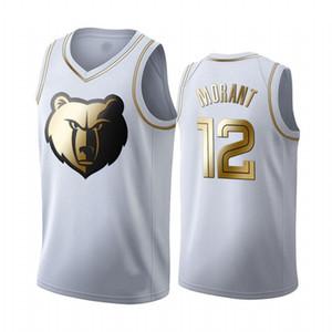 Memphis Masculina 2020GrizzliesCamisa 12 Ja Morant curta Bordados Basketball Jerseys bule S-XXXL 09 12