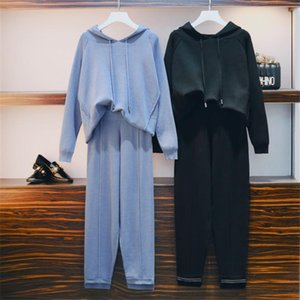 automne hiver coréen tricot 2 Peice Set femmes manches longues Pull Hauts pour femmes + costume pantalon Survêtement occasionnel