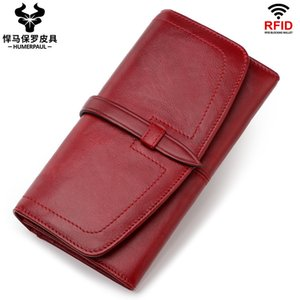 2020 New Europe and the United States Womens Leather Purse RFID Long Style Wit Zipper Vintage Women Wallet Bulk Bags & Shoes