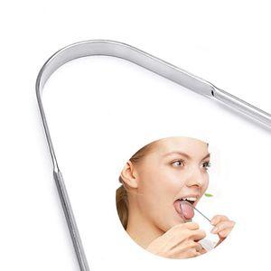 Langue propre Raclette pour adultes langue en métal acier inoxydable de qualité Brosse dentaire Kit langue professionnelle Brosse à dents KKA8095
