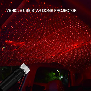 LED Starry Laser Atmosphere Ambient Projector Car Roof Star Light Interior USB Auto Decoration Night Home Decor Galaxy Lights