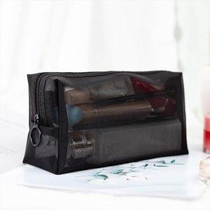 Borsa da donna sacchetto trucco sacchetto di stoccaggio cosmetico bellezza up zipper rendendo caso funzioni lavaggio lavaggio bordo organizzatore viaggio viaggio trasparente aomee