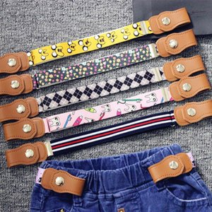 2020 Hot New Children Elastic Belt Pants For Girls Boys Anti Deduction Belt Baby Nursery Essential 16 Colour Kid's Jeans