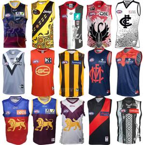 حار مبيعات 2020 2021 COLLINGWOOD منزل GUERNSEY الركبي قمصان AFL كولينجوود جيرسي القميص دوري قميص سترة S-3XL