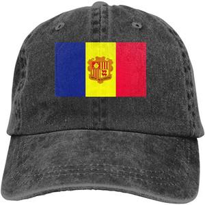 Vintage Cap Bandera Andorra unisex suave Gorra gorras de béisbol ajustables