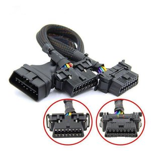 Alta calidad OBD2 Cable de extensión del OBD 16pin macho a hembra para ELM 327 V1.5 para el diagnóstico auto del coche del escáner herramienta de OP-COM