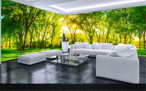 Scenery Wallpaper 3d green fresh trees living room full house background wall decoration mural wallpaper 3d Paper Wall