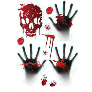 Ventana de Halloween PVC dormitorios casa de adhesivos decorativos Wall Stickers horror hueso de la mano de la puerta Pascua Etiqueta Decoración Decoración VT1724