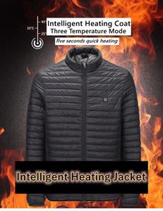 2020 الرجال الشتاء usb infrared التدفئة سترة مقنعين الكهربائية ساخنة سترة سوداء usb المشي سترة دافئة التدفئة المعاطف