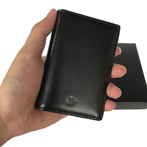 Cartão de Carteiras do Banco caso dos homens Bolsa de couro de alta qualidade sacola homens do Cartão Designer Titular saco de poeira Box bolso Mini Carteiras portefeuille