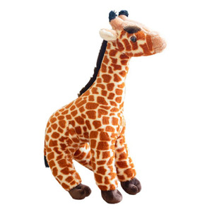 Hot Giraffe Plush Toy Stuffed Simulation Animal Doll and Pillow for Bedtime Pal Playroom Decoration Children Playset PLD