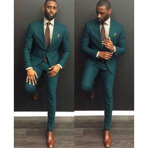 Green Burgundy Men Suits Trajes De Hombre Traje Homb Custom Made Groom Suit Suit For Men 2 Piece (Jacket + Pants + Tie) LJ200923
