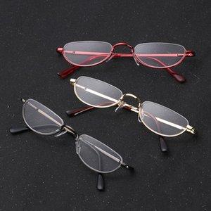 1PC унисекс металлические рамки для чтения очки ретро наполовину RIM очки Oculos Eyewear Anti-Skidding Vision Care + 1.00 ~ + 4.0 диоптер DBBKI