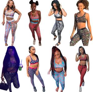 Les femmes Ethika Survêtement Impression personnalisée Bustier Pantalon En deux pièces Tenues d'été Leisure Suit différents styles de plate-forme 2020
