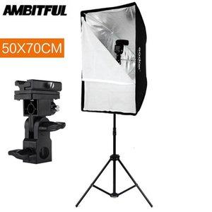 Stand lights Booms Godox 50 x 70cm Ombrello Softbox con supporto 2m, tipo-B, kit di staffa porta scarpa per fitlite flash