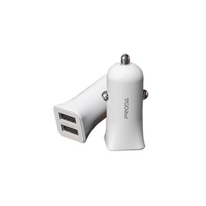 Car Charger Dual USB 5V 2.4A for iPhone Samsung HTC LC Nokia Blackberry Phone Chargers Universal Mini Sized Charging Adapters