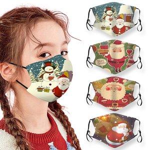 قناع عيد الميلاد سانتا كلوز يمكن غسلها وتعديل قناع ثلج جديد مصمم للأطفال يمكن إدراج PM2.5 مرشح قناع