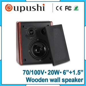 Restaurant 100V Wooden 20 WaWall Mount Speaker For Sale