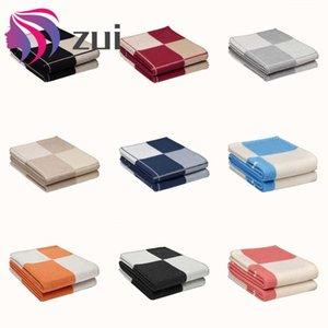 Luxus-H Cashmere-Decken-super weiche Wolle-Schal-Schal Tragbarer Wearable Warm Plaid Schlafsofa Bedspread Knit Überwurfdecke