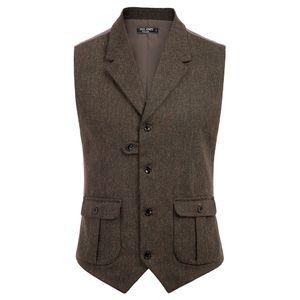жилет пальто людей вскользь стильный Нотч Handkerchief Hem Vest пальто с Карманой летом осенью формального вечернего короткого пальто вершиной T200910
