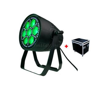 4pcs + Caso B olho Led Zoom Par 7x 30W RGBW 4in1 + 96x0.2w UV SMD Led Par Zoom Strobe Led Par Can Luz de Palco