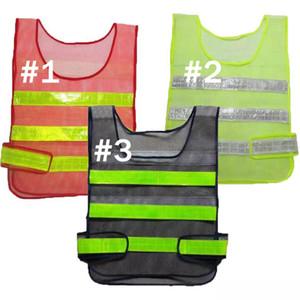 Vêtements de sécurité réfléchissants Gilets creux Grille Gilet de haute visibilité Avertissement sécurité au travail de construction de la circulation Gilet Vêtements de sécurité réfléchissants