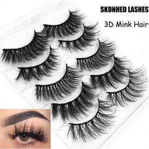 5 Pairs set Handmade Soft Black Thick Eye lash 3D Natural Cross False Eyelashes Extension Fake Eyelashes Beauty Makeup Tools