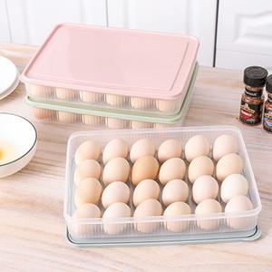 Kunststoff 24 Grid-Ei-Aufbewahrungsbehälter-Küche Eierlagercontainer Eier-Halter-Kasten stapelbare Gefrierschrank Organizers