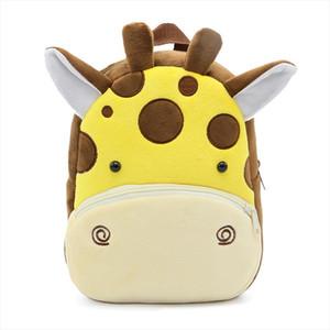Winmax Girls Boys giraffe Plush School Backpack Kindergarten Cartoon School Bag Toddler Children Animal Toy Bag Infantes Mochila