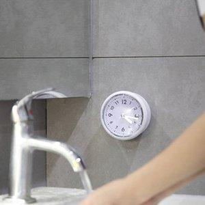 Silikon Banyo Saat Mutfak Duş Su geçirmez Saat Analog Sessiz Banyo Anti-Bırak Duvar