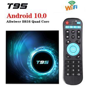 T95 الروبوت 10.0 TV صندوق H616 رباعية النواة 4GB + 32GB دعم 2.4G واي فاي 6K كاجا دي التلفزيون الروبوت PK X96 الهواء A95XF3