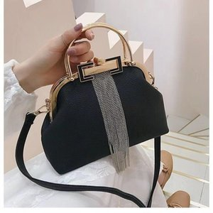 Fashion Hand Bag Large Capacity PU Leather Bag With Tassel Shell Crossbody Bags For Women2020