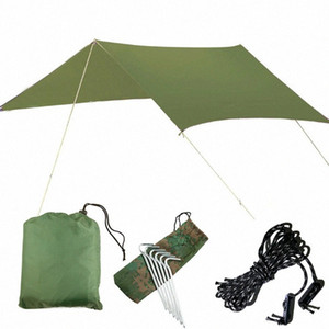 Outdoor Oversized Canopy Sunshade Beach Camping Tent Waterproof Cloth Moisture Proof Pad Triangle Canopy Waterproof Sun Shelter Shelte spGN#
