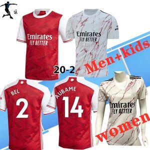 Inicio de distancia de los hombres + kidsThailand Calidad 2020 camiseta de fútbol 2021 Arsen jerseys PEPE NICOLAS CEBALLOS HENRY Sokratis 20 21 mujeres Gunners Football