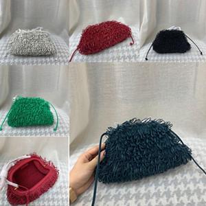 2020The esponja saco de couro Envelope ombro Luxo Bolsas Mulheres Designer Voluminous Rodada bolsas forma e Bolsas Dumpling Nuvem pacote oco1 #