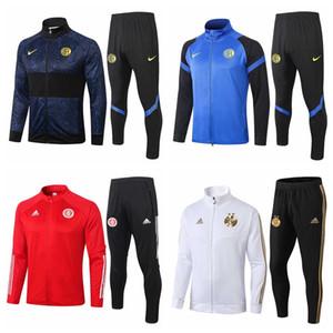 Inter Milan Aligeria Brazil International 2020 2021 브라질의 축구 survetement 재킷 운동복 축구 FUL 지퍼 자켓 veste 드 발 훈련 정장 조깅 정장 # 62315