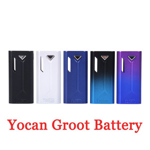 100% Authntic yocan groot Vape Box Mod 400mAh Battery Adjustable Voltage Electronic Cigarette Mods For 510 Thread Tank Vaporizer Original
