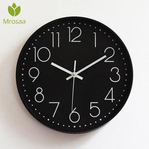 Nueva Moda Ronda de relojes de pared de época moderna de Plasitc relojes de cuarzo Reloj WATHCES Inicio dormitorios salas de estar pared de la cocina moderna 6s5u grande #