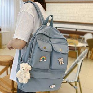 DCIMOR Мода водонепроницаемый нейлон Женщины рюкзак большой емкости с несколькими карманами ранцы для девочек-подростков Путешествия Mochilas