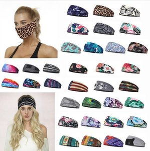 Party Mask Hair Bands Elastic Sport Headband Multi-function Headwear Scarf Fitness Sweat Absorbing Turban Multi Colors for Choose GWF1891