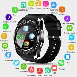 Sport Men Smart Watch SIM Card Android Camera Rounded Answer Call Dial Call Smartwatch Heart Rate Fitness Tracker